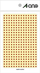 エーワン カラーラベル 赤 丸型 3mm 4シート 07681