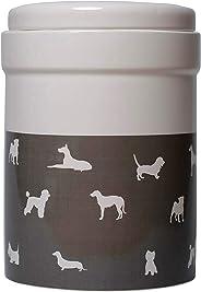 MOG & BONE Ceramic Treats Canister Mocca Dog Print