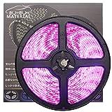ぶーぶーマテリアル 色が綺麗なLEDテープ ピンク 300 LED 白ベース 5m 12V 防水