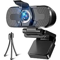WEBカメラ ウェブカメラ webカメラ HD1080P 200万画素 三脚/盗撮防止カバー付き パソコンカメラ ワイド…