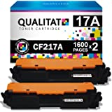 QUALITAT CF217A Toner Cartridge Compatible Replacement for HP 17A 2 Pack Black Cartridges for use in Laserjet Pro M102w M130n