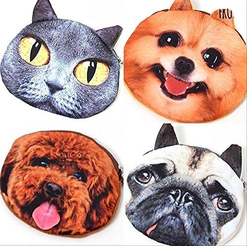 [OHAGI] 動物の顔がとっても可愛い アニマル 犬 猫 小物入れ 小銭入れ コインケース 小物 ケース ポーチ (ネコ)