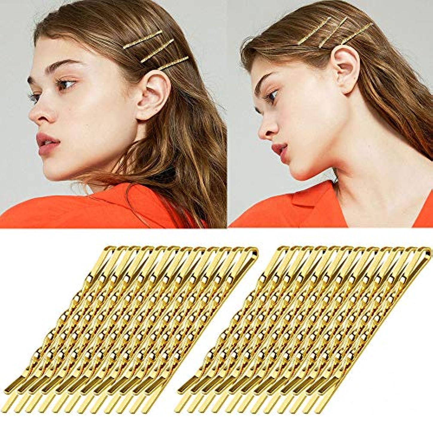 恐ろしいですスローと組むshefun ヘアピン ゴールド 前髪 ピン アメリカピン 前髪クリップ アレンジピン アメピン 可愛い レディース 女の子 ゴールドピン24枚セット JP151 (A5.5cm)