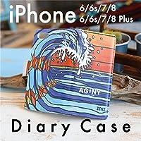 iPhoneケース スマホケース スマホカバー 手帳型 ハワイアン ハワイ 人気 おしゃれ サーファー ALOHA アロハ かわいい iphonexsmax iphonexr iphonx iphonexs iphone8 iphone8plus (iPhone 6/6s/7/8, The Beaming Wave)