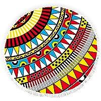 ラウンドビーチタオルwithタッセルエスニックTribe Navajo Aztec抽象アートFringed円Thick Gypsyピクニックカーペットヨガマット YUNN18510YXSTJ-TK-CRY-1132-1