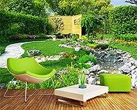 Mbwlkj カスタムファッション装飾的なPaintingwallpaperクリーク草の風景の背景の壁紙の家の装飾-450cmx300cm