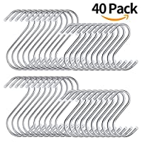 Metal S Hooks For Hanging 40 Pack 2 Sizes 【Creative Arts】 [並行輸入品]