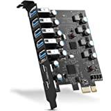 PCI-E to USB 3.0 7-Port(2x USB-C - 5x USB-A )Expansion Card ,PCI Express USB 3.2 Add In Card , Internal USB3 Hub Converter fo