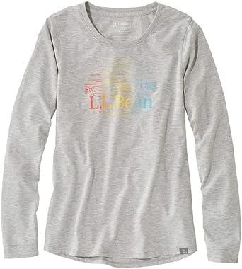 L.L.Bean(エルエルビーン) ウィメンズ Tシャツ エル・エル・ビーン・キャンプ・ティ 長袖 グラフィック 米国フィット・レギュラー