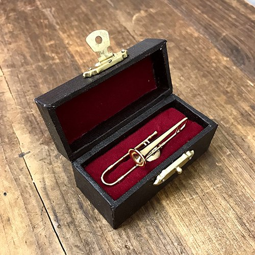 [해외]Akitzuki 소형 밴드 핀 배지 트롬본 골드/Akitzuki Miniature Band Pin Badge Trombone Gold