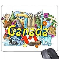 ロッキー山脈タワーメープルカナダグラフィティ 長方形のノンスリップゴムパッドのゲームマウスパッドプレゼント