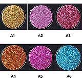 AYYK 色メタリックグリッターグローリキッドアイシャドーアイシャドーリップグロスコメチックラスティング (Color : A)