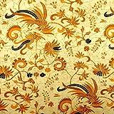 Pajung Prijaji インドネシア バティック ジャワ更紗(プリント) 鳥と植物のモチー……