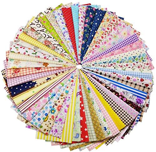 綿生地 花柄 DIY手作り 生地 はぎれセット カットクロス パッチワーク布 15×15cm (200枚)