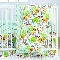 Poppi Living 3 Piece Infant Crib Bedding Set, Forest [並行輸入品]