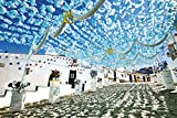 1000ピース ジグソーパズル 空に舞う水色の花(ポルトガル) (50x75cm)