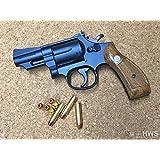 発火モデルガン S&W M19 2.5インチ ヘビーウェイトHW ブルー・ブラック・フィニッシュ 完成品 木製グリップ【HWS】