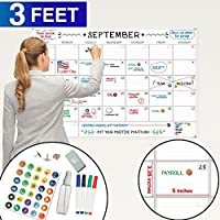 Large Dry Erase Wall Calendar - 24 x 36 - 2018 Jumbo Monthly Task Organizer - Giant Erasable Oversized Planner for Home Office Business Classroom Dorm Room - Giant & Undated Deadline Task Planner [並行輸入品]