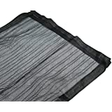 R-STYLE 風通し と 害虫よけ 両立 マグネット式 で 自動で閉まる 玄関 網戸 防虫ネット カーテン (100cm×210cm ベージュ)