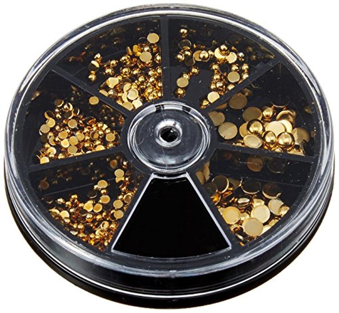 スモッグ着実に第二ビューティーネイラー ラウンドストーン ゴールドMIX SVP- 9 360P アクリルストーン アート材