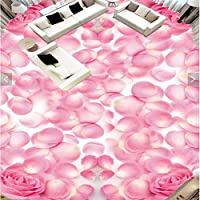 Sproud カスタムバスルーム壁高品位のロマンチックなピンクのバラの花びらをノンスリップ防水性の肥厚の自己接着剤 250 Cmx 175 Cm
