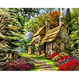 Frameless Beautiful Country House DIY Oil Painting Paint By Numbers Kits