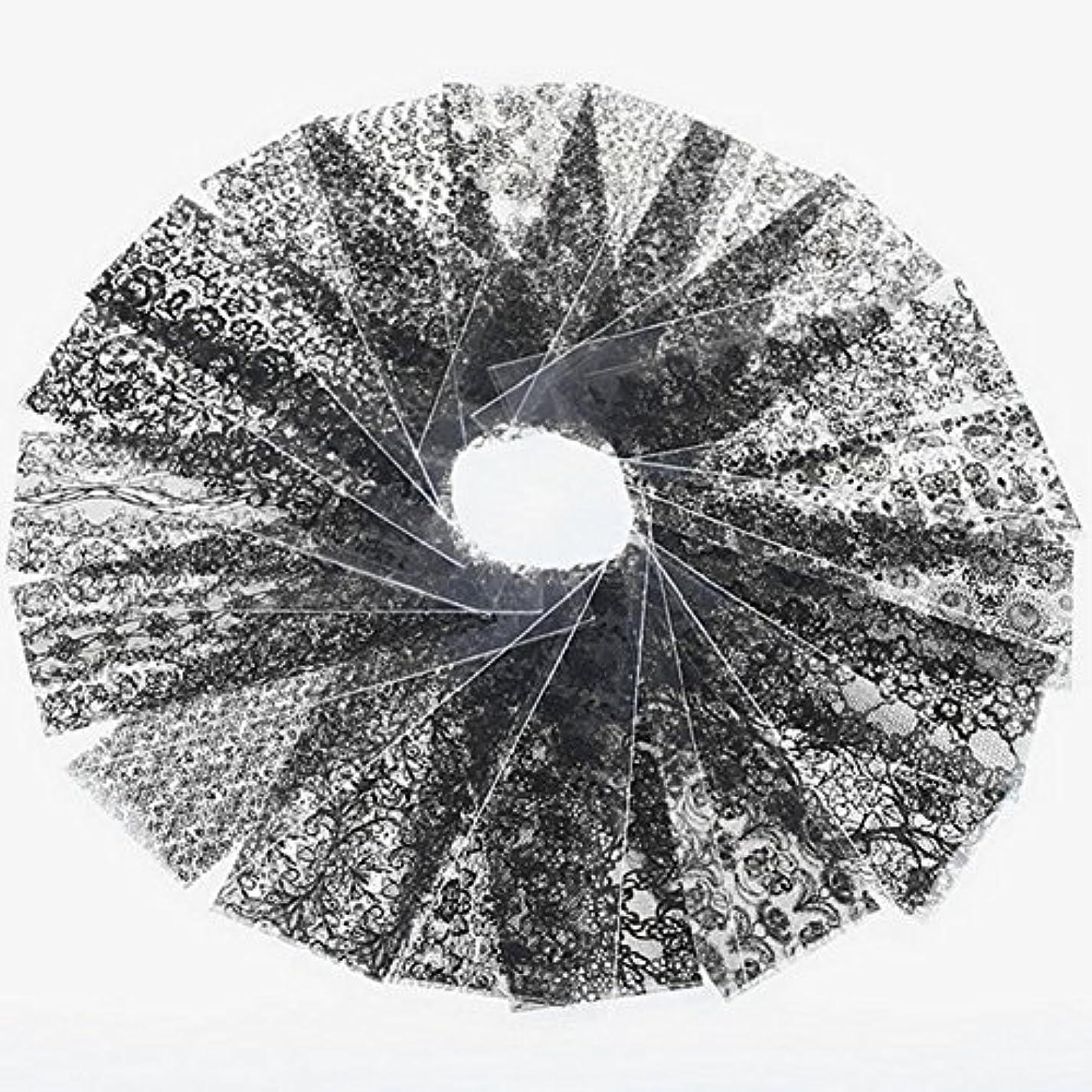 ルーテメリティマーチャンダイザーDemiawaking ネイルシール ステッカー 可愛いレースシリーズ ネイル装飾 ネイルアートデコレーション DIY 飾り 20枚