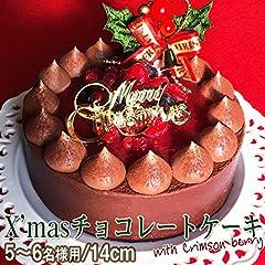 クリスマスケーキ 予約 2019 Xmas チョコレートケーキ with Crimson berry 14cm【プレート・キャンドル・ヒイラギ付】お取り寄せ チョコ ケーキ スイーツ