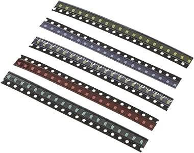 100pcs smd LED Diodenlichter Assortierter Satz Superheller Smd LED Kit 0805