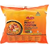 Lucky Me! Instant Pancit Canton (Chow Mein) Sweet and Spicy Flavor, 60g (Pack of 6)