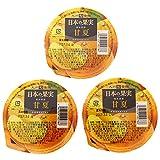 【九州旬食館】 日本の果実 お試しセット 熊本県産 甘夏 ゼリー 155g× 3個 詰め合わせ セット