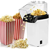 Automatic Popcorn Machine Mini, Kitchen Mini Automatic Corn Popper Electric Corn Popcorn Machine White Plug 220-240V - Silico