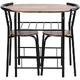 オーエスジェイ(OSJ) 円形 ダイニング 3点セット ダイニングテーブル ダイニングセット 食卓 チェア2脚 幅70 コンパクトサイズ 2人掛け おしゃれ 新生活
