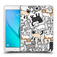 Head Case Designs スコティッシュフォールド キャットブリード・パターンズ 2 Samsung Galaxy Tab A 9.7 専用ソフトジェルケース