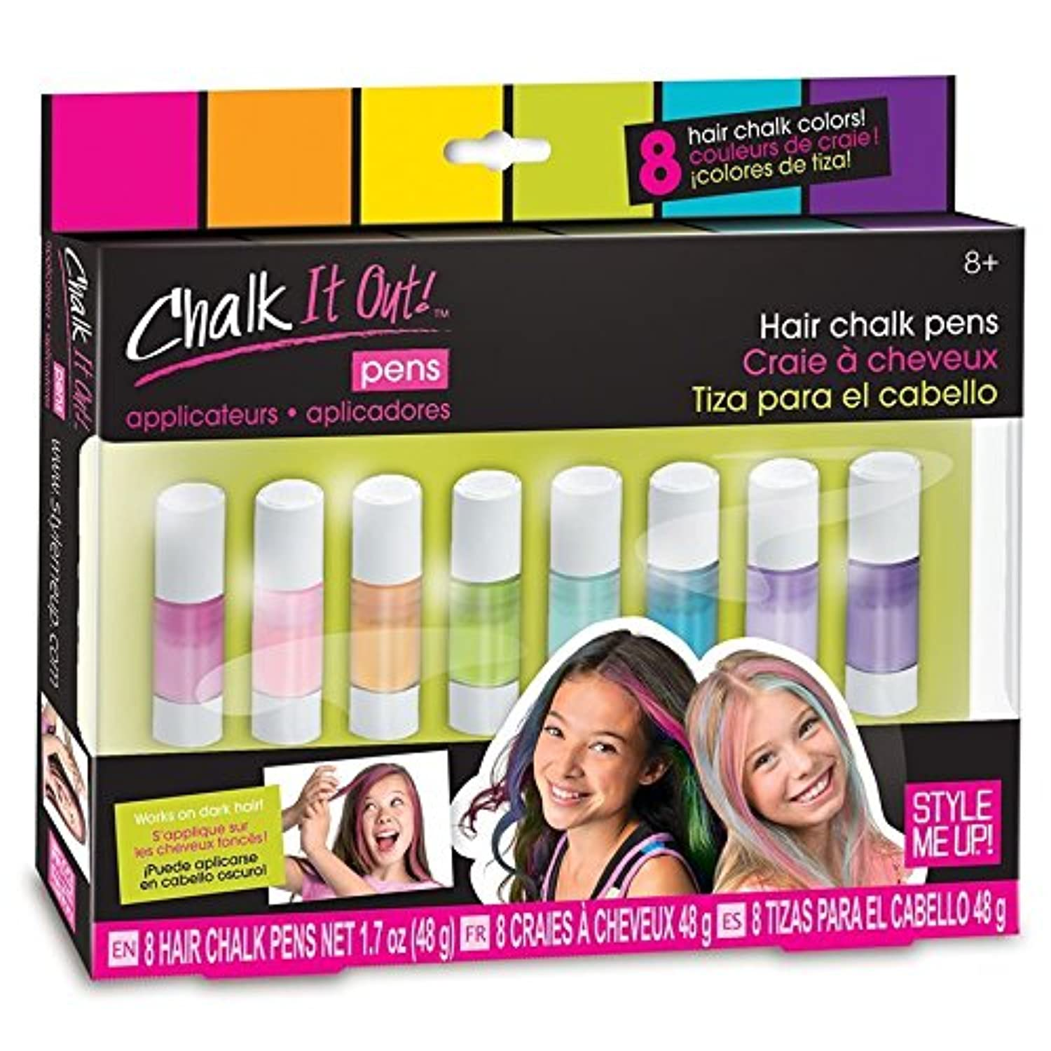 Style Me Up Chalk It Out Palette 8 Pens Kids Art Craft