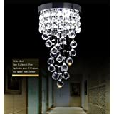 Crystal Ceiling Light LED 3 Brightness Crystal Chandelier Chandelier Ceiling Light Suitable for Staircase Corridor Living Roo