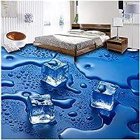Xbwy 3Dフロア壁紙用リビングルームカスタム現代ステレオ写真壁画壁紙Pvcバスルームアイスキューブフロア壁画壁紙-120X100Cm