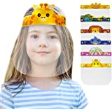 [O2 Lifecare] 6 Qty KIDS Face Shield Face Cover with 6 Different from Each other Character Clear Visor Elastic Band & Confort