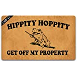 Home Decor Hippity Hoppity Get Off My Property Welcome Mat with Rubber Backing Doormat Entrance Floor Mat Non-Slip Entryway R