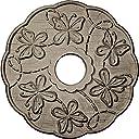 Ekena Millwork CM17TSGDC Terrones Butterfly Ceiling Medallion, Gobi Desert Crackle 並行輸入品
