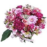 HanaDokoroかんも屋特製 『笑み花』 フラワーアレンジ フラワーギフト ピンク系 手書きメッセージカード お誕生日 お祝い ギフト プレゼントに最適 (Bアレンジ)