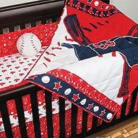 MLBボストンレッドソックス野球4ピースベビーベッド寝具セット
