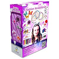 Fashion Headbands for Girls - 60 Pcs DIY Satin Women Girl Jewellery Making Kit - Hair Accessories Flowers Rhinestones Roses Butterfly Arts Crafts for Girls - Make Your Own Headbands