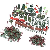 Dovewill 約290点セット ソリダーズフィギュア プレイセット プラスチック製 兵士 軍隊 陸軍 砂シーンモデル