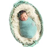 Sunmig Newborn Baby Stretch Wrap Photo Props Wrap-Baby Photography Props (Mint Green)