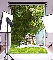 lfeey写真背景5x 7ftアウトドアLawn Tree StumpレッドワインケーキGrapeベビーキッド幼児少年少女Artistic Portrait Easter Spring風景空写真の撮影小道具ビデオドレープ