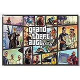 1 の Wholesale-Grand Theft Auto 5 V ゲーム壁シルクポスター 36 x 24,18 x 12 インチの大きな促進プリント男の子部屋 3 4 GTA GTA 5 女の子ボックスアート( 033 ピース)