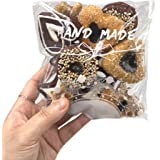 Artboil 200pcs Lovely Lace Bowknot Clear Self Adhesive Treat Bag Cellophane Bag Cookie Bag, Party Favor Bag for Bakery, Candy