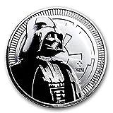 31.1グラム 純銀 「 ダース・ベーダー / スター・ウォーズ 」ニウエ $2ドル 1オンス・1枚 銀貨 インゴット 高純度 .999 銀 銀塊 カプセル クリアーケース付き (¥ 3,699)
