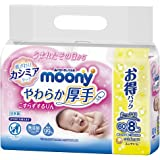 (Oshiri wipe) Mooney Soft and thick Rin without rubbing Refill 480 sheets (60 sheets x 8)